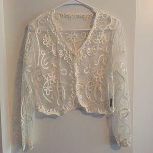 "Sweaters - FSMIXIYA Evening Shrug Jacket Chest 32"""
